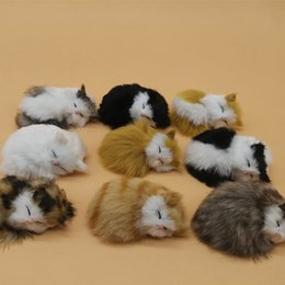 Wholesale plush talking - Creative Simulation Slipper Cat Cute Hand Made Plush Talking Toys Vivid For Home Living Room Decoration Ornaments Gift 6hy B