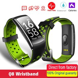 Wholesale Remote Alert - Q8 Heart rate Smart Band 2 Sports Smart Wristband Waterproof Fitness tracker Bracelet Smartband With Call SMS alert