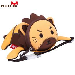 талия для мальчиков Скидка Nohoo Toddle Baby Waist Bag Cartoon Style Waterproof Kids Bag 3D Lion Baby's Waist Bags for Boy 1-5 Years Old Fashion