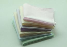 20шт сплошной цвет Hankerchiefs 100 %хлопок платки Мужчины Женщины 28см *28см карманные площади свадебное равнина DIY печати рисовать платочки от