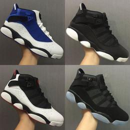 шесть французских Скидка шесть 6 кольца мужчины баскетбол обувь французский синий быки прохладный серый черный серебристо-серый альтернативный Oreo Хамелеон 6 S спортивные кроссовки