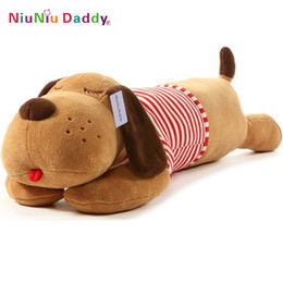 Wholesale Wholesale Big Plush Teddy Bear - Wholesale-2016 Niuniu Daddy Plush Toy Big Dog Giant Stuffed Puppy Dog Soft Extremely Plush Animal Toy Pillow