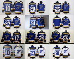 Wholesale Paul Stastny - 2018 New St. Louis Blues 20 Alexander Steen 26 Paul Stastny 27 Alex Pietrangelo 91 Vladimir Tarasenko Blue White Hockey Jerseys Cheap