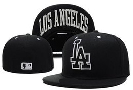 Wholesale Fashion La - Good Quality top Sale LA Baseball Fitted Hats Mens,Sport Hip Hop Fitted Caps Womens,Fashion Cotton Casual Hats