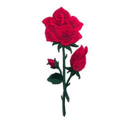 Canada Broderie Patch Rouge Rose Fleurs Coudre Fer Sur Des Patchs Badges Brodés Pour Sac Jeans Chapeau T Shirt DIY Appliques Artisanat Décoration Offre