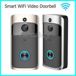 Wholesale Outdoor Detection - Smart Wireless Doorbell HD 720P WIFI Video Doorbell Night Vision Motion Detection Alarm Door Phone Visual Intercom Camera Video Door Phones