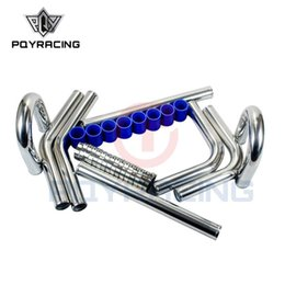 "Tuyau d'intercooler en silicone en Ligne-PQY - TUBE INTERCOOLER TURBO 2.25 '' 57mm 2.25 ""L = 600MM TUYAU DE TUYAUTERIE EN ALUMINIUM CHROME 600MM"