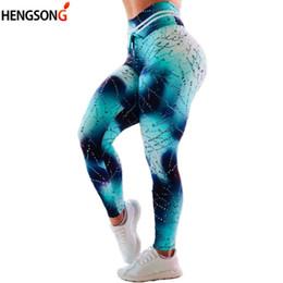Leggings gotas online-Gota de agua Estampado de yoga Pantalones Leggings Cintura alta Elástico Entrenamiento Gimnasio Leggings Jeggings Push Up Gimnasio Excerise Mujeres Leggins Mujer