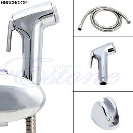 Wholesale Handheld Shower Sets - Bidet Toilet Handheld Shattaf Adapter Kit Sprayer Shower Head Wall Bracket Set