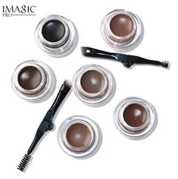 Sobrancelhas profissionais on-line-IMAGIC New Arrivals Profissional Sobrancelha Gel 6 Cores de Alta Testa Sobrancelha Maquiagem Sobrancelha Marrom Gel Com Brow Brush Tools
