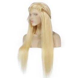 Человеческие волосы длинная полная блондинка онлайн-613 # светлые парики фронта шнурка человеческих волос длинные прямые парики для чернокожих женщин бразильские парики полный шнурок человеческих волос предварительно сорвал оптом