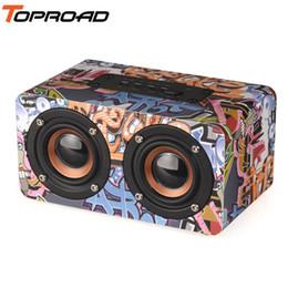 Canada En bois Sans Fil Bluetooth Haut-Parleur Portable HiFi Shock Basse Altavoz TF Radio FM caixa de som Soundbar pour iPhone Xiaomi Offre