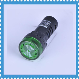 Wholesale Pilot Led Lights - Pilot lamp 5pcs AD16-22SM Indication light signal lamp Flash buzzer 220V led indicator