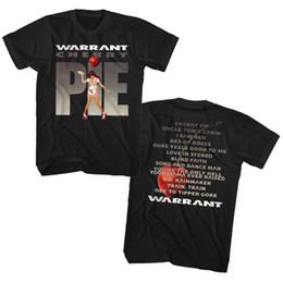 Ciliegia adulto online-Warrant Cherry Pie Album Elenco canzoni Double Sided Adult T Shirt Rock Music