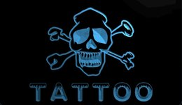 Wholesale tattoo 3d new - F111 b Tattoo Open NEW 3D LED Neon Light Sign Retail and Dropshipping Wholes 8 colors Customize on Demand