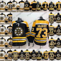 Wholesale zdeno chara - Boston Bruins #73 Charlie McAvoy 63 Brad Marchand 88 David Pastrnak 33 Zdeno Chara 2018 Hockey Black White Mens Youth Womens Kids Jerseys