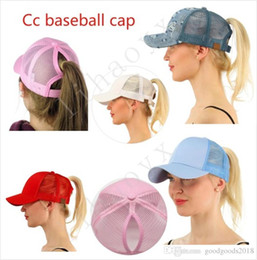 Wholesale Cap Vest - Wholesale Hot CC Ponytail Baseball Cap Ms. Ponytail Hat Fashion Girl Basketball Hat Vest Ponytail Hat