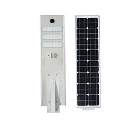Wholesale street light 12v - 2018 NEW 50W LED Solar Street Light Outdoor Waterproof IP65 T5 Floodlight spotlights integrated Intelligent infrared sensor