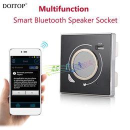 Wholesale Usb Speaker Dock - DOITOP Multifunction Smart Wall Socket Wireless Bluetooth Speaker Socket HiFi Music Play & 5V 2A USB Charging Port Smart Speaker
