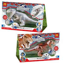 jurassic world blocks Promo Codes - Building Block Bricks Toys Jurassic World Educational Dinosaurs Toys Model Puzzle Assembling for Kids Gifts - Random Delivery
