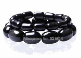 2019 schöne männer schmuck Schöne natürliche große rcylinder Obsidian Perlen ziemlich Obsidian Perlen Stretch elastisches Armband Modeschmuck für Frau Mann günstig schöne männer schmuck