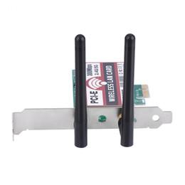 Antena 5g on-line-300 Mbps PCI-e Banda Dupla 2.4G / 5G AP Sem Fio WiFi WLAN Adaptador Para Laptop MAC com Antena