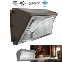 Wholesale Led Wells - UL DLC 80W 100W 120W 150W LED Wall Pack Light Waterproof Outdoor Wall Mount LED garden lamp AC 90-277V Mean Well Driver