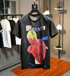 Wholesale show trade - 2201 men t-shirt fashion Product Spring And Summer Body Short Sleeve Show Solicitude Foreign Trade Round Neck European PP17141