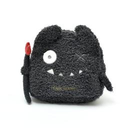 Argentina Nuevo tema de Halloween, súper caricatura, lindo monstruo pequeño, truco, pequeño diablo, mochila de lana suave para adultos y niños Suministro