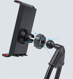 halterung mehrere telefone Rabatt Faule Klammer-Handy-Halter-faule hängende Hals-Stehhilfen DIY freie drehende Reittiere mit mehrfacher Funktion Opp-Paket STY068