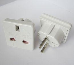 Wholesale power euro - UK to EURO EU AC Power Converter Travel Plug Adapter Adapters Converters white