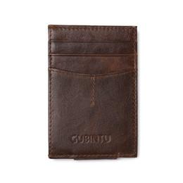 2019 carteiras de bolso dianteiro YISHEN Homens De Couro Genuíno Grampos de Dinheiro Frente Bolso Braçadeira Para Titular do Dinheiro Pequeno Homens Bolsa Clipe Carteira ID Caso de Cartão de 113 # carteiras de bolso dianteiro barato