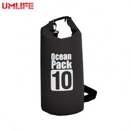 55430792af10 7Color 500D PVC Tarp Trekking Drifting Seal Rafting 10L Bag Double Straps  Ocean Pack Outdoor Waterproof Bag Dry