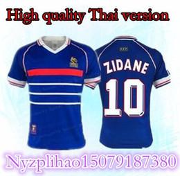 1998 Zidane Retro Soccer Jerseys Djorkaeff Henry Home Deschamps 98 Classic  Shirts Vintage Football Shirts Maillot de Foot Camiseta Camisa d36343954