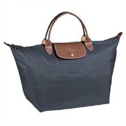 Wholesale Nylon Folding Tote - famous brand fashion large short handle folding Tote Handbag Graphite Dark Blue women waterproof nylon shoulder luxury bags sale lady female