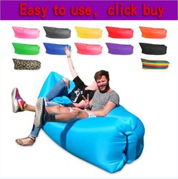 inflatable air beds Promo Codes - lazy bag Home Air Furniture Gas Lazy Sofa Bed Sunshine Beach Park Sleeping Air sofa gonflable air lounger waterproof Welcome to buy