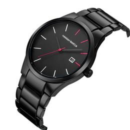Canada Montres-bracelets en acier inoxydable de montres de mode pour hommes de la mode des hommes de la mode masculine de sport Date relogio masculino horloge hommes Offre