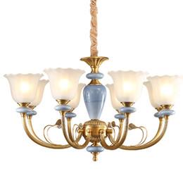 Lustre de style européen lampe cuivre classique hôtel de luxe hôtel restaurant restaurant salon lumières Macarons cuivre art pendentif éclairage ? partir de fabricateur