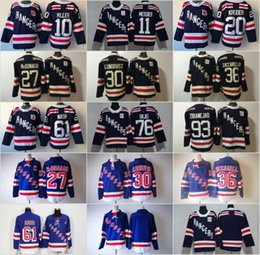 Wholesale Rangers Jerseys - New season York Rangers Mats Zuccarello Zibanejad Rick Nash Henrik Lundqvist Ryan McDonagh Fast Chris Kreider 2018 Winter Classic Jersey