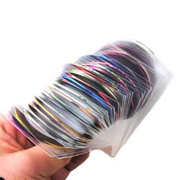Todo para uñas 30 Unids Línea de Cintas de Rayas Arte de Uñas Decoración Etiqueta DIY Pegatinas de Uñas Mezcla Rollos de Color desde fabricantes