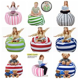 Wholesale large christmas stuffed animals - 38 Inch Extra Large Stuffed Animal Storage Bean Bag Chair Portable Kids Clothes Toy Storage Bags 5pcs OOA4639
