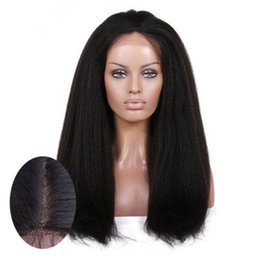 Wholesale Yaki Remy Hair Full Lace - Best Italian Yaki 360 Lace Frontal Wig Pre Plucked Brazilian Remy Lace Human Hair Wigs for Black Women 150% Density (16inch)