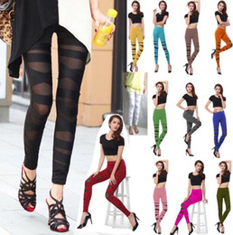 sexy women flat feet Promo Codes - 2018 New Through the meat High elasticity Sexy Bundle Feet pants Leggings Women's Yoga Leggings Fitness Leisure pants