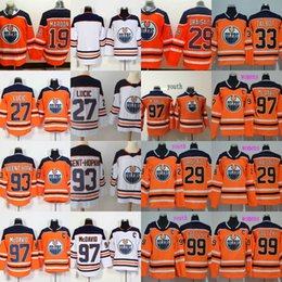 Wholesale Ryan Nugent Hopkins - 2017-18 Season Edmonton Oilers 29 Leon Draisaitl Jersey Captain C Patch 97 Connor McDavid 99 Wayne Gretzky 93 Ryan Nugent-Hopkins Jerseys