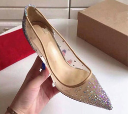 Wholesale Box Office New - 2017 brand new women high heels shoes pointed toes pumps wedding shoes fashion include original box and dust bag,8cm 10cm,size 35-40,