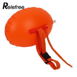 Wholesale Pool Open - Wholesale-Relefree Outdoor Sports Safety Swimming Inflatable Buoy Flotation For Open Water swimming pool Life buoy floats swimming rings