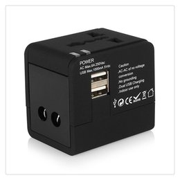 au dual port wall charger Coupons - Hot Sale Universal Dual USB Charging Ports Wall Charger AC Power Plug Adapter Travel AC Adapter Converters EU UK US AU