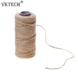 ткать этикетки Скидка 100m/Roll Natural Rope DIY Tag Label Hang Rope Wedding Home Woven Decorative Twine Jute String Gardening Cord