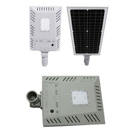 Super helle nacht lichter online-LED Solarstraßenlaterne-Wand-Garten beleuchtet 22W alle in einem mit Bewegungs-Sensor wasserdichte IP65 super helle Sicherheits-Nachtbeleuchtung für Straße