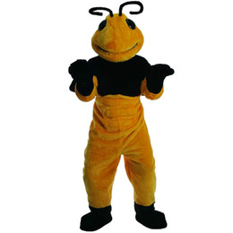 Wholesale Make Bee Costume - 2018 New high quality Bee Mascot costumes for adults circus christmas Halloween Outfit Fancy Dress Suit Free Shipping